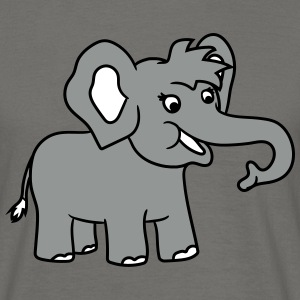 Happy elephant cute sweet cute baby child offsprin T-Shirts - Men's T-Shirt