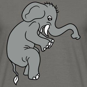 Painted sitting little cute sweet baby elephant ch T-Shirts - Men's T-Shirt