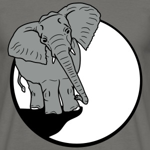 olifant zitten grappige comic cartoon fun lachen T-shirts - Mannen T-shirt