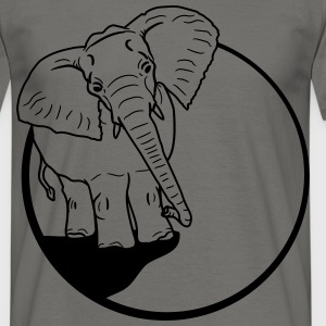 Elephant night moon cliff mountain sun big T-Shirts - Men's T-Shirt