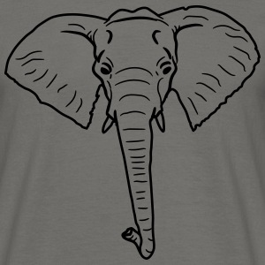 Elephant head face painted T-Shirts - Men's T-Shirt