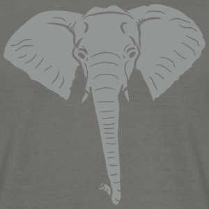 Design elephant head painted face T-Shirts - Men's T-Shirt