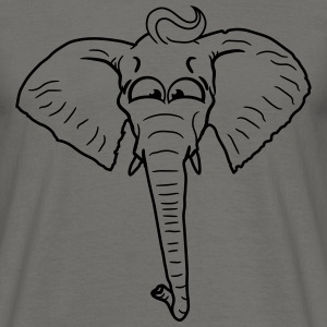 Comic cartoon funny elephant head face painted T-Shirts - Men's T-Shirt
