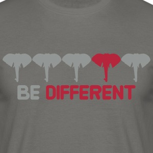 be different schwul gay pink rosarot anders muster T-Shirts - Männer T-Shirt
