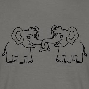 2 friends team couple couple hands holding sibling T-Shirts - Men's T-Shirt