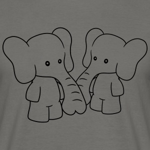 2 friends couple couple siblings love team little  T-Shirts - Men's T-Shirt