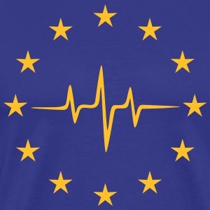 Pulse of Europe, EU, Europa puls, frequentie, vlag T-shirts - Mannen Premium T-shirt