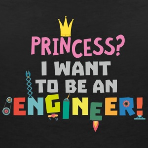 Princess  I want to be an Engnineer S2yb2 T-Shirts - Women's V-Neck T-Shirt