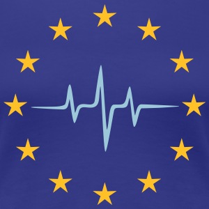 Pulse of Europe, EU puls, stjerner, flag, europa T-shirts - Dame premium T-shirt