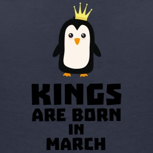 kings born in MARCH Sde4n T-Shirts - Women's V-Neck T-Shirt