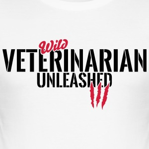 Wild veterinary unleashed T-Shirts - Men's Slim Fit T-Shirt