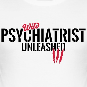 Vilda psykiater unleashed T-shirts - Slim Fit T-shirt herr