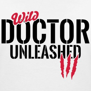 Wild doctor unleashed T-Shirts - Women's V-Neck T-Shirt
