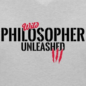 Wild philosopher unleashed T-Shirts - Women's V-Neck T-Shirt