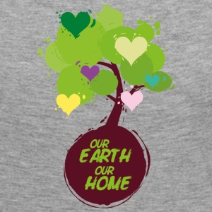 Baum mit Herzen - Our Earth Our Home Langarmshirts - Frauen Premium Langarmshirt