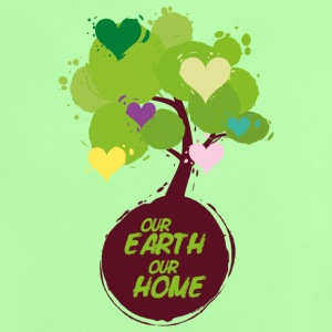 Baum mit Herzen - Our Earth Our Home Baby T-Shirts - Baby T-Shirt