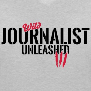 Wild journalist unleashed T-Shirts - Women's V-Neck T-Shirt