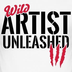 Wild artist unleashed T-Shirts - Men's Slim Fit T-Shirt