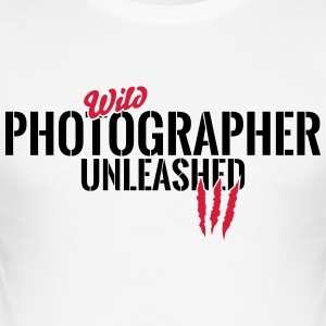 Unleashed vilda fotograf T-shirts - Slim Fit T-shirt herr