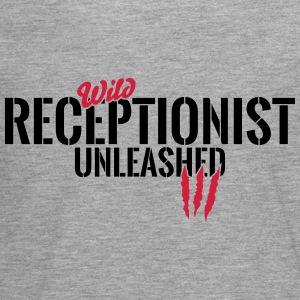 Wild receptionist unleashed Long Sleeve Shirts - Teenagers' Premium Longsleeve Shirt