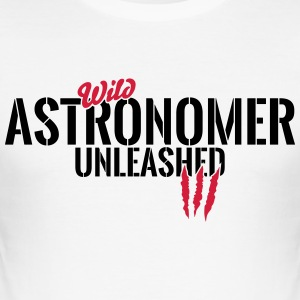 Vilda astronom unleashed T-shirts - Slim Fit T-shirt herr