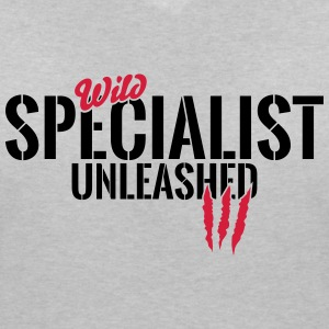Wild professional unleashed T-Shirts - Women's V-Neck T-Shirt
