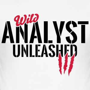 Unleashed wild analyst T-Shirts - Men's Slim Fit T-Shirt