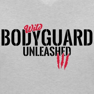 Wild bodyguard unleashed T-Shirts - Women's V-Neck T-Shirt