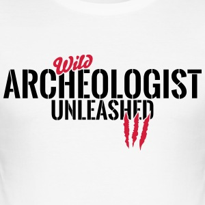 Wild archaeologist unleashed T-Shirts - Men's Slim Fit T-Shirt