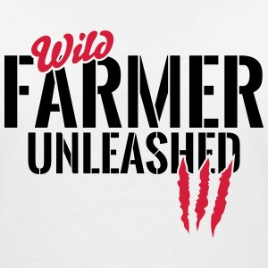 Wild farmer unleashed T-Shirts - Women's V-Neck T-Shirt