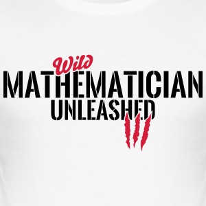 Vilda matematiker unleashed T-shirts - Slim Fit T-shirt herr