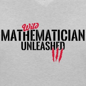 Wild mathematician unleashed T-Shirts - Women's V-Neck T-Shirt