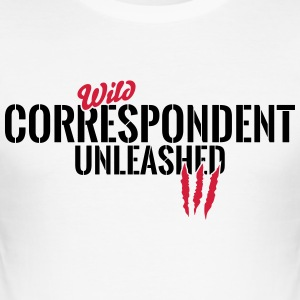 Wild correspondent unleashed T-Shirts - Men's Slim Fit T-Shirt