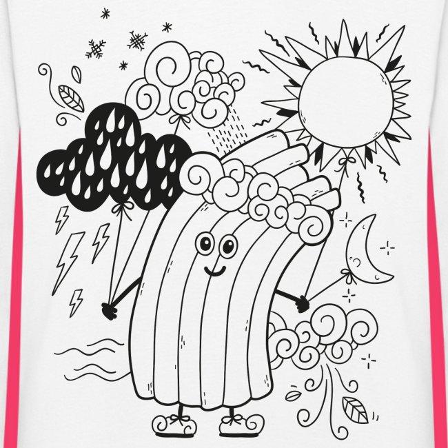 Rudi Regenbogen Kinder-Sweatshirt zum Ausmalen