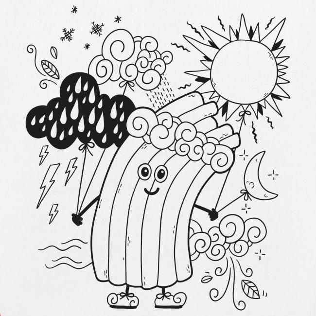 Rudi Regenbogen Kinder-Jutebeutel zum Ausmalen