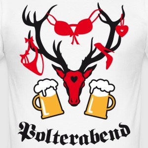 Macho Hirsch Polterabend JGA Bier Beer Party T-Shi - Männer Slim Fit T-Shirt