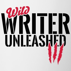 Wild writer unleashed Mugs & Drinkware - Contrasting Mug