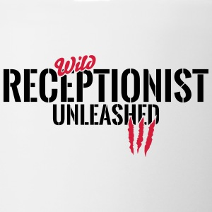 Wild receptionist unleashed Mugs & Drinkware - Mug