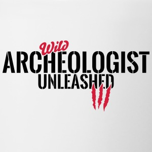Wild archaeologist unleashed Mugs & Drinkware - Contrasting Mug