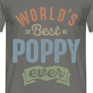 World's Best Poppy  - Men's T-Shirt