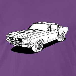 cool car white T-Shirts - Männer Premium T-Shirt