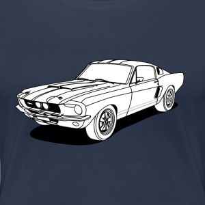 cool car white Tee shirts - T-shirt Premium Femme
