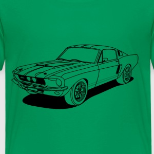cool car outlines Skjorter - Premium T-skjorte for barn