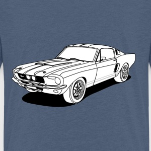 cool car white Skjorter - Premium T-skjorte for barn