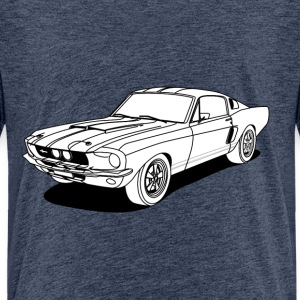 cool car white Shirts - Kids' Premium T-Shirt