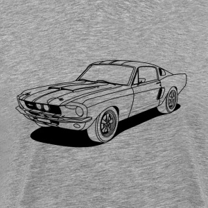 cool car outlines T-Shirts - Men's Premium T-Shirt