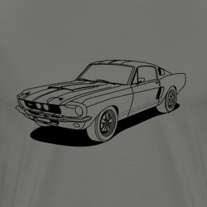 cool car outlines T-skjorter - Premium T-skjorte for menn