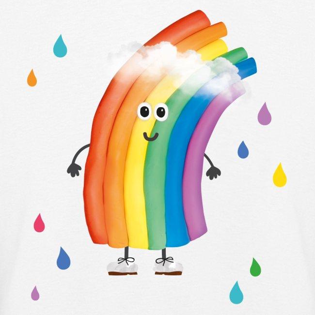 Rudi Regenbogen Kinder-Sweatshirt mit bunten Tropfen