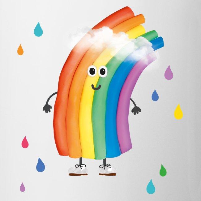 Rudi Regenbogen Kinder-Tasse mit bunten Tropfen