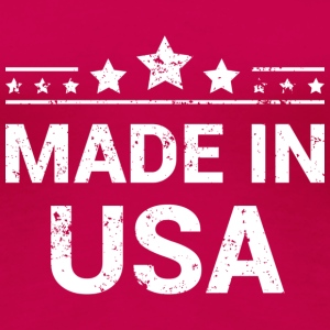 Made in USA (White Print) T-Shirts - Women's Premium T-Shirt